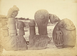 Fragments of Buddhist sculpture from Deoria, Allahabad District